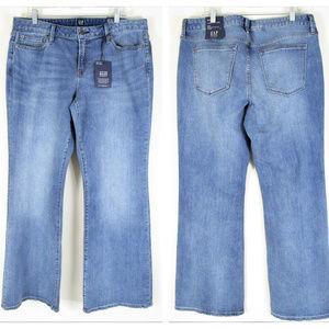 Gap Plus Size Indigo Long And Lean Jeans Light